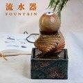 2017 Nuevo Envío Libre de agua fuente waterscape pequeño globo ocular bola redonda decoración Feng Shui decoración para el hogar creativo