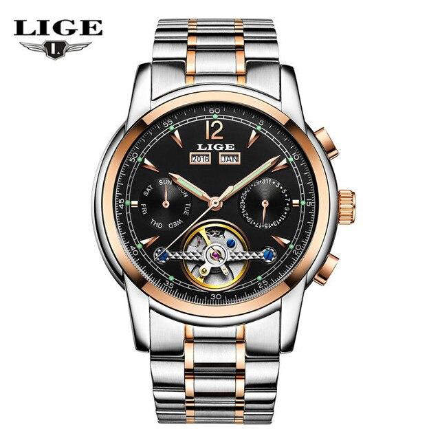 69f161e2700 Relojes LIGE masculino à prova d  água sports watch marca de luxo lazer dos  homens