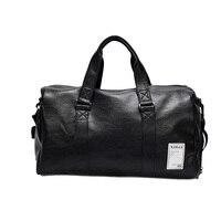 Women Men PU Leather Sport Gym Bag Travel Duffle Bags Waterproof Handbag Outdoor Fitness Shoulder Bag