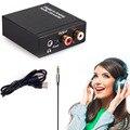 Цифровой Коаксиальный Оптический toslink в Аналоговый L/R RCA Audio Converter Адаптер 3.5 мм С USB Кабель Питания
