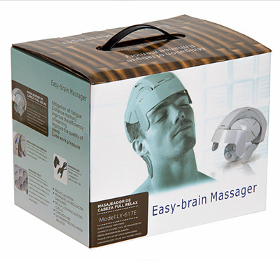 Multifunctional electric head massager brain massager home electric scalp massage head relax instrument USB Adapter humanized design electric head massager brain massage relax easy acupuncture points fashion gray health care home