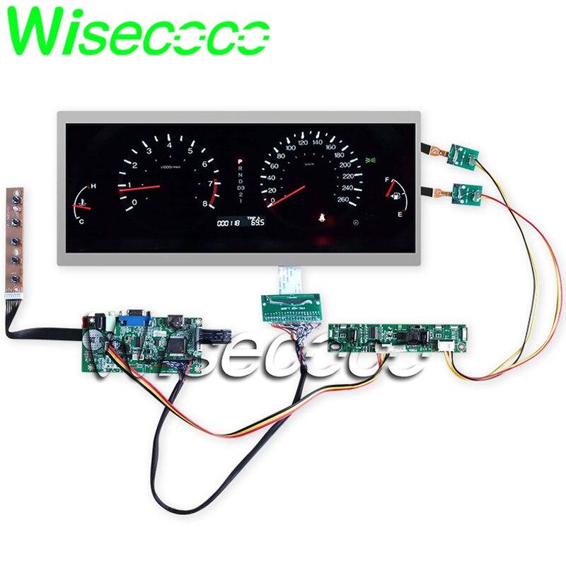 "High Brightness C123HAN01.1 C123HAN01.0 12.3"" Ultra Wide LCD Screen Module 1920x720 LVDS HDMI VGA+DVI Controller Driver Board"
