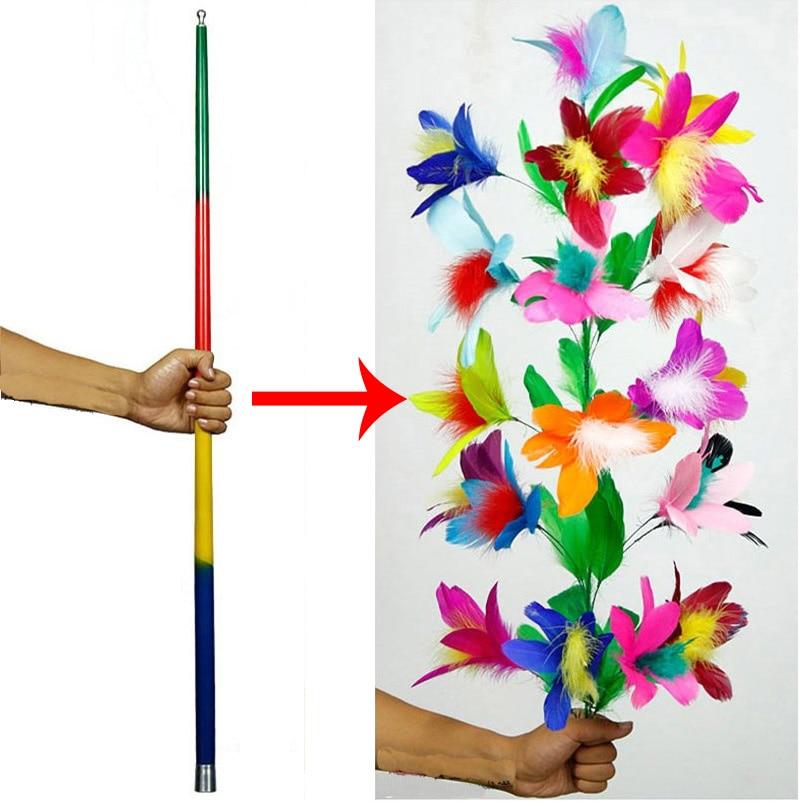 JUMPING ROSE GAG Flying Flower Magic Trick Vanish Clown Prank Joke Lapel Funny