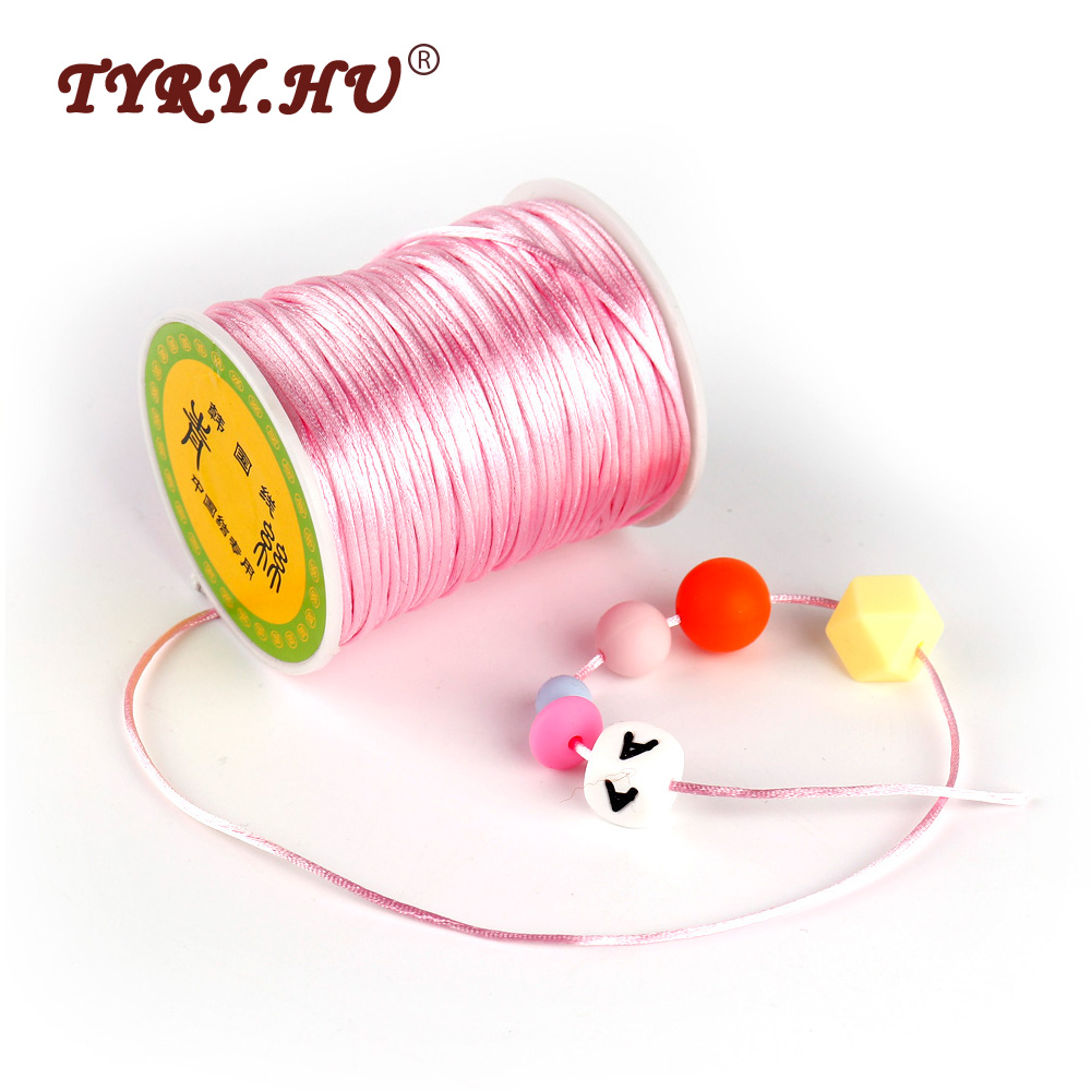 TYRY.HU 1.5mm Satin Nylon Cord 80M Professional Pacifier Chain Ropes Silicone Beads Baby Teethers Tools For Baby Necklace Making
