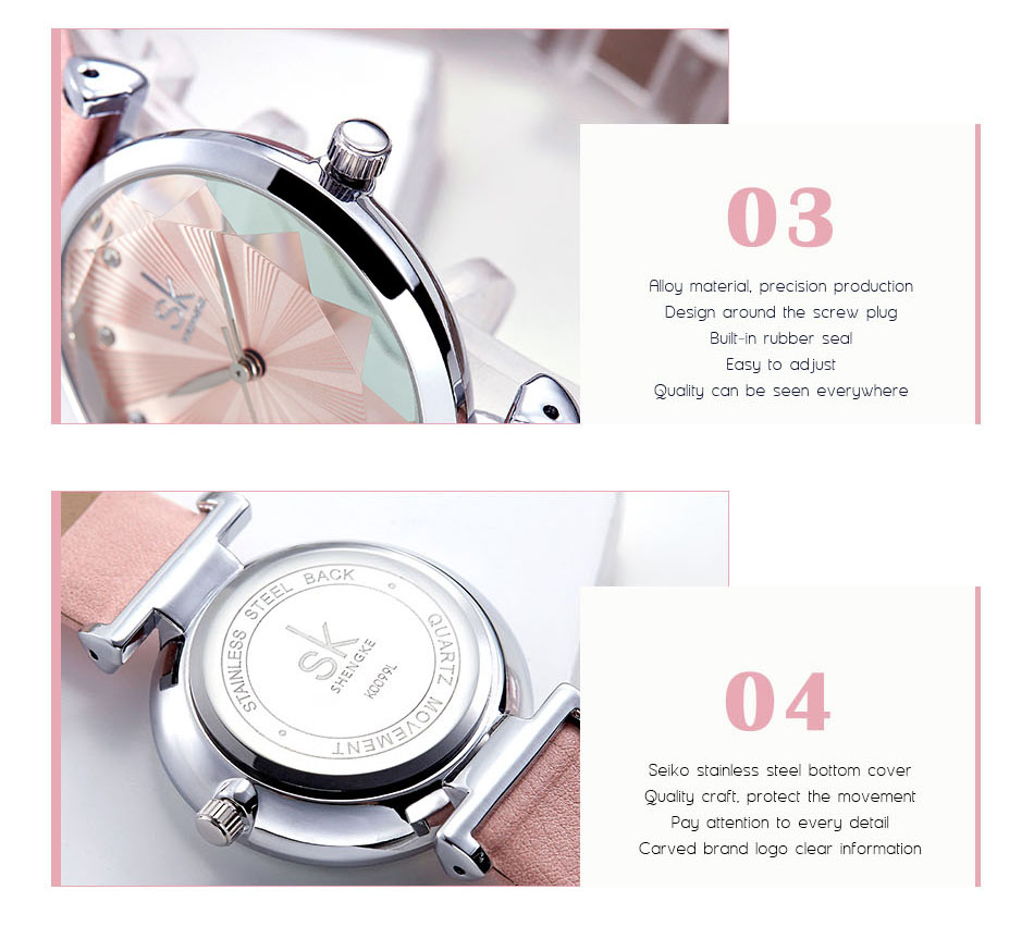 SK Luxury Brand Leather Ladies Wrist Watches Women Prism Quartz Watch For SHENGKE Female Clock reloj mujer 2019 relogio feminino (10)