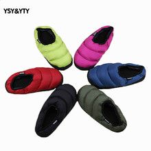 2019 Pouches with colorful feather slippers cute couple home cotton slippers for men and women home slippers month shoes woman