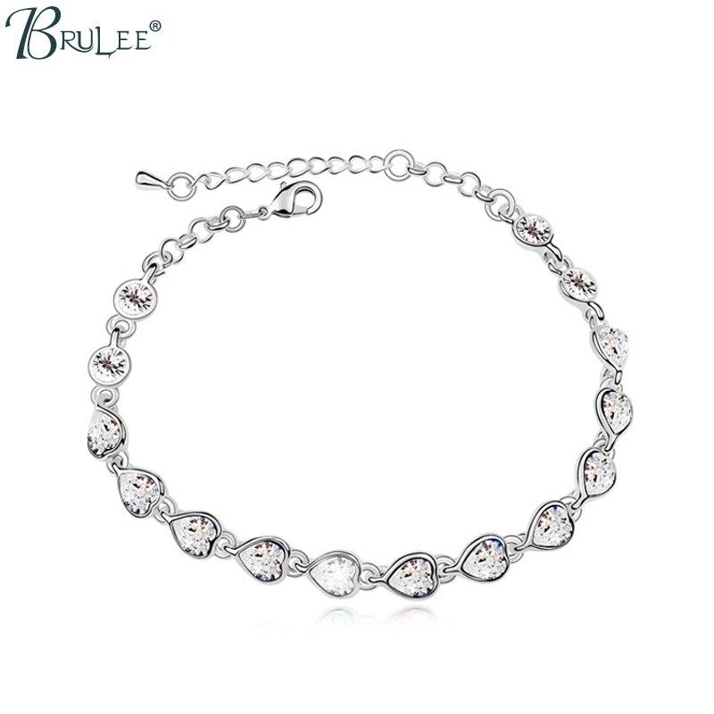 2017 Nouveau Mode Cristal de Swarovski Bracelet Coeur Forme Poinçon De Luxe Bracelets Femmes Romantique De Bijoux De Mariage Who.