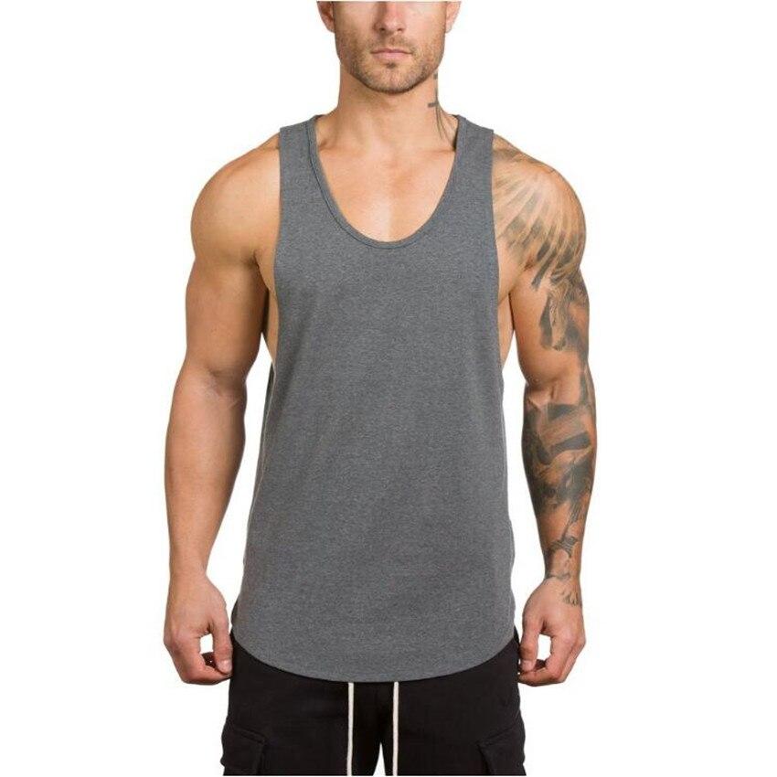 Hot 2017 Mens Brand clothing Bodybuilding Fitness Men   Tank     Top   workout Gyms print Vest Stringer sportswear Undershirt