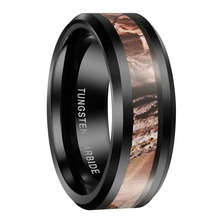 8mm Black Tungsten Carbide Rings Red Forest Camouflage Camo Hunting Band Mens Engagement Rings Online Jewelery