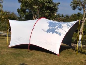 Ultralarge 5-8 Person Use Multifunction Waterproof Anti-UV Camping Tent Large Gazebo Sun Shelter Beach Tent Barraca