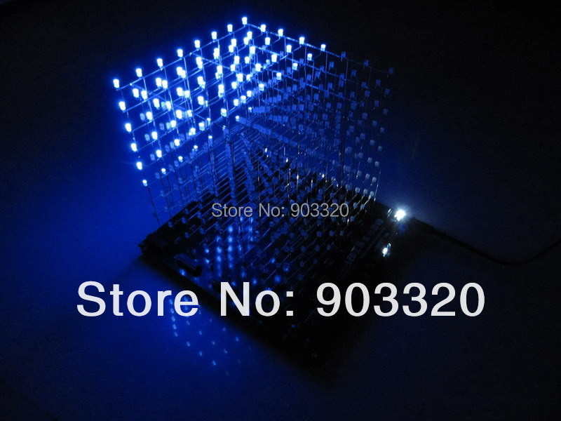 TF Card 3D 8S LED Light Cube With Animation Effects /3D CUBE 8 8x8x8 3D LED /Kits/Junior,3D LED Display,Christmas Gift цена