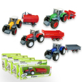Children Toys Farmer Farm Tractor Planting Machine Sprinkler Inertia Model Engineering Car Set