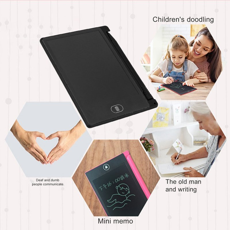 TOMLOV 4 4inch Mini Writing Tablet Digital LCD Drawing Notepad Handwriting Tablet Pad in Drawing Toys from Toys Hobbies