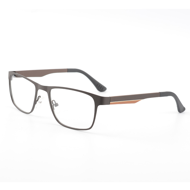 13e885e901c Metal Computer Glasses Men Rectangular Optical Clear Designer Myopia Brand Eyewear  Frame really High Quality