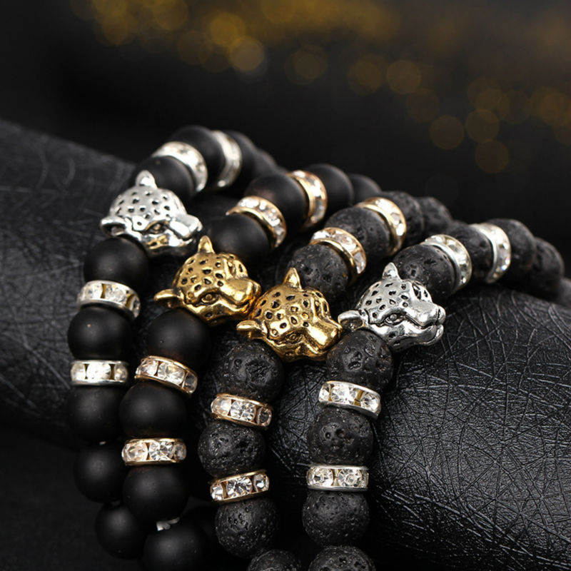 Hot sale Lava Beads bracelet natural Stone Buddha Bracelet Elastic Rope Chain Charm Bracelets & bangle For Women And Men