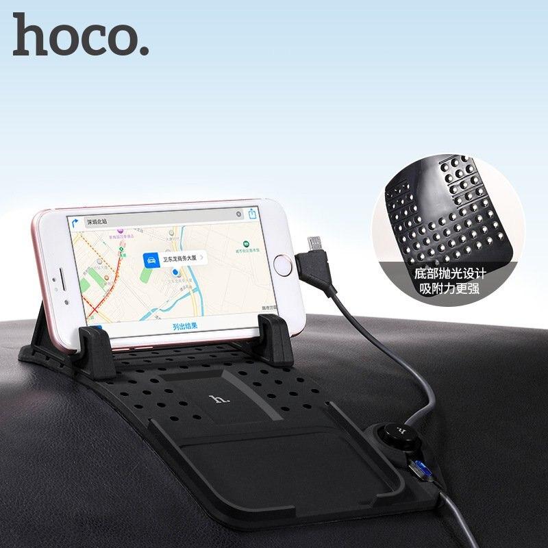 imágenes para Original hoco conector magnética sostenedor del teléfono del coche soporte ajustable soporte para teléfono móvil soportes de carga para el iphone samsung