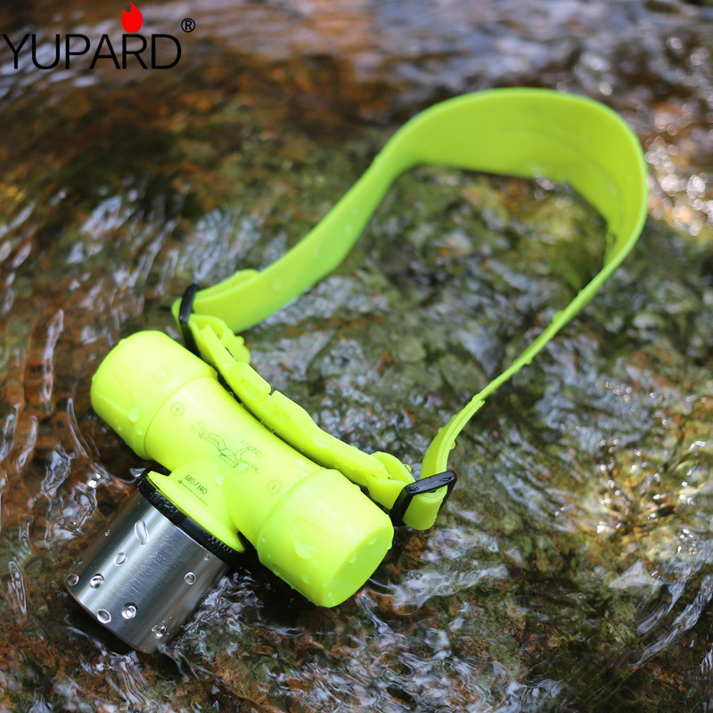 YUPARD 30m Diver Diving CREE XM-L2 XM-L T6 LED18650 battery or 3x AAA headlamp Flashlight Torch Waterproof Light Lamp outdoor 8200 lumens flashlight 5 mode cree xm l t6 led flashlight zoomable focus torch by 1 18650 battery or 3 aaa battery