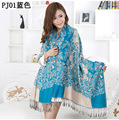 Lakeblue Autumn Winter Women's Fashion Printing Pashmina Cashmere Shawl Scarf  Warp Free Shipping SY0013