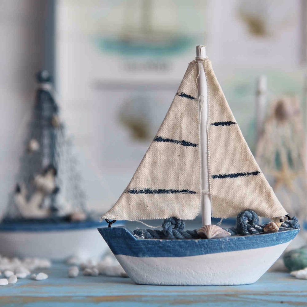 Old Boat Home Decor 9. Aliexpress Aibei Mediterranean Style Wooden Blue  White
