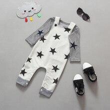 Мальчик одежды комплект нью-пятиконечная звезда комбинезоны брюки детской одежды весна одежда спортивный костюм tz859