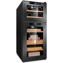 лучшая цена Electronic Control Wine Cabinet Constant Temperature Humidity Small Household Wine Refrigerator& Cigar Cabinet cooler humidor