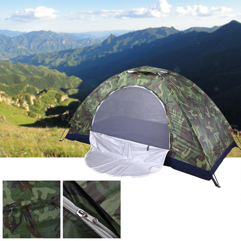 3-4 Persons Waterproof Portable Camouflage Tent Outdoor Camping Tent Ultraviolet-proof Tents Outdoor Camping Camouflage Tent image