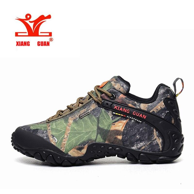 XIANGGUAN Étanche Randonnée Chaussures Hommes Camo Escalade Baskets Femmes Camouflage Boot Plus Grande Taille Euro 46 47 48 Nous 12 13 14 15