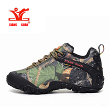 XIANGGUAN Waterproof Hiking Shoes Men Camo Climbing Sneaker Women Camouflage Boot Plus Big Size Euro 46 47 48 Us 12 13 14 15