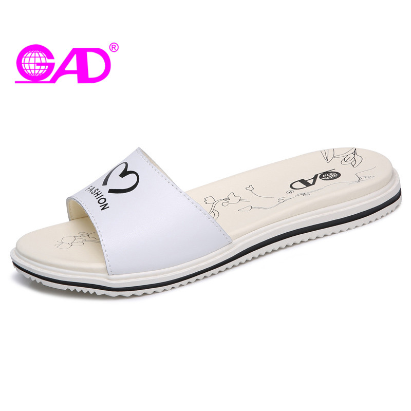 GAD Women Beach Slippers 2017 Summer New Arrival Fashion Graffiti Open Toe Breathable Women Slides Comfortable Flat Shoes Women free shipping candy color women garden shoes breathable women beach shoes hsa21
