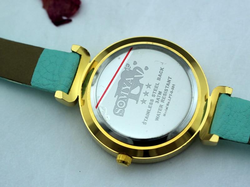 Kvinder Mode Casual Watch 30M Vandtæt Luksus Rhinestone Quartz - Dameure - Foto 3