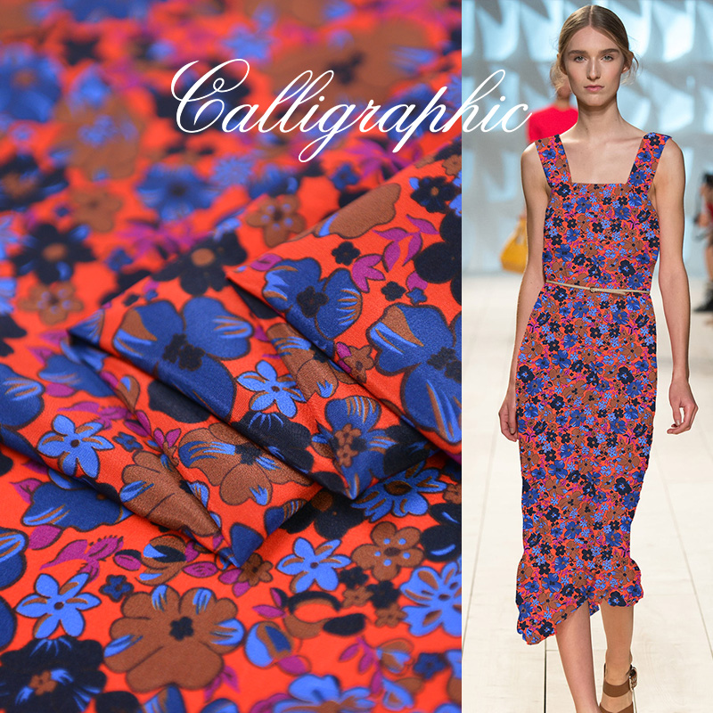 Floral Silk Cotton Crepe De Chine Material Fabric For ShirtFloral Silk Cotton Crepe De Chine Material Fabric For Shirt
