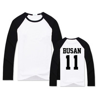 Bts Jimin Zhimin Plates Youth Park Practice Room Of The Same Raglan Sleeves And Thin Summer
