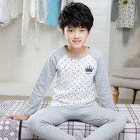 Famli Kids Pajama Set 4Y 12Y Girls Winter Autumn Fashion Long Sleeve Printed Cotton Pijamas Children