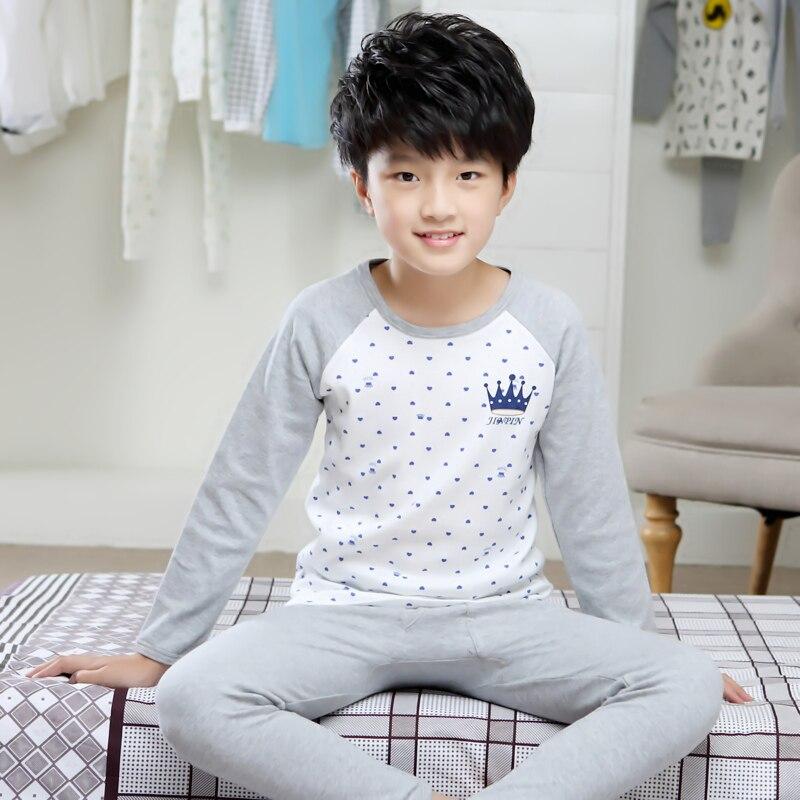 Famli Kids Pajama Set 4Y-12Y Girls Winter Autumn Fashion Long Sleeve Printed Cotton Pijamas Children Boy Sleepwear Pyjama Garcon цена