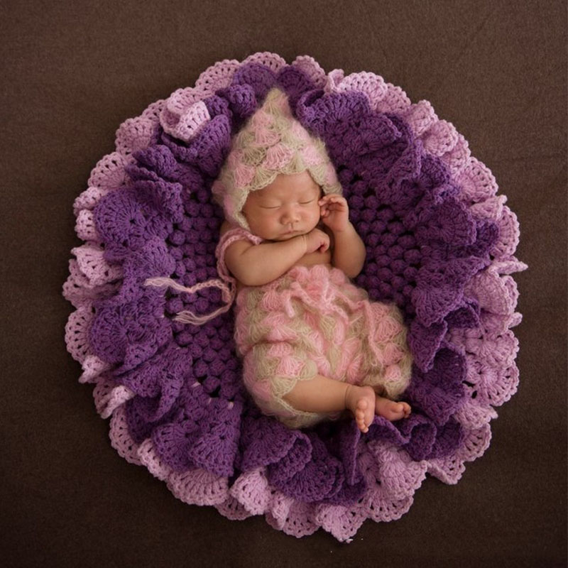 Baby Photography Props Flower Blanket Basket Filler Newborn Fotografia Accessories Infant Toddler Studio Shooting Photo Props dvotinst baby photography props flowers hanging basket decoration fotografia accessories infant toddler studio shooting photo