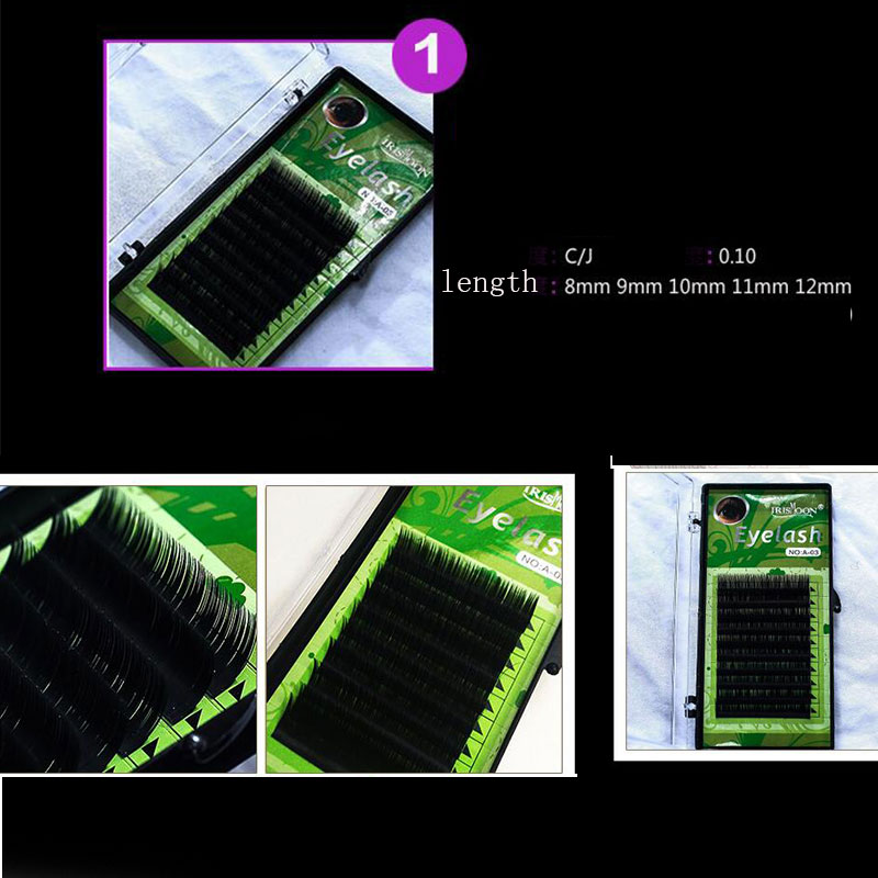 black powder lacquered cosmetic case is grafted with the professional glue tool of the lashes, 14 pcs beginners suits