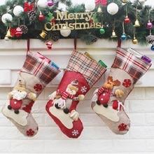 Vánoční závěsná ponožka na krb pro Santa Clause