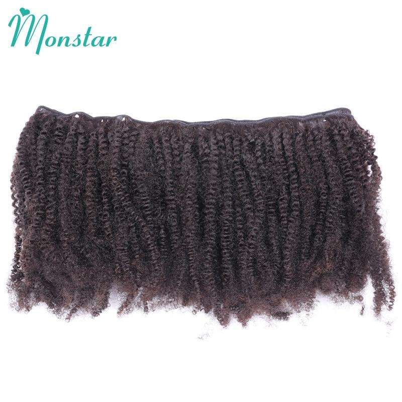 Monstar Wholesale Hair 10 Bundles Unpprocessed Peruvian Afro Kinky Curly Bundle Virgin Human Hair Natural Color Shipping Free