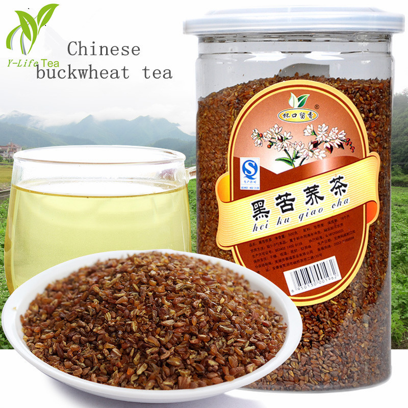 Hot Sale 500g Chinese Black Buckwheat Tea black tartary buckwheat plantule green natural food for weight