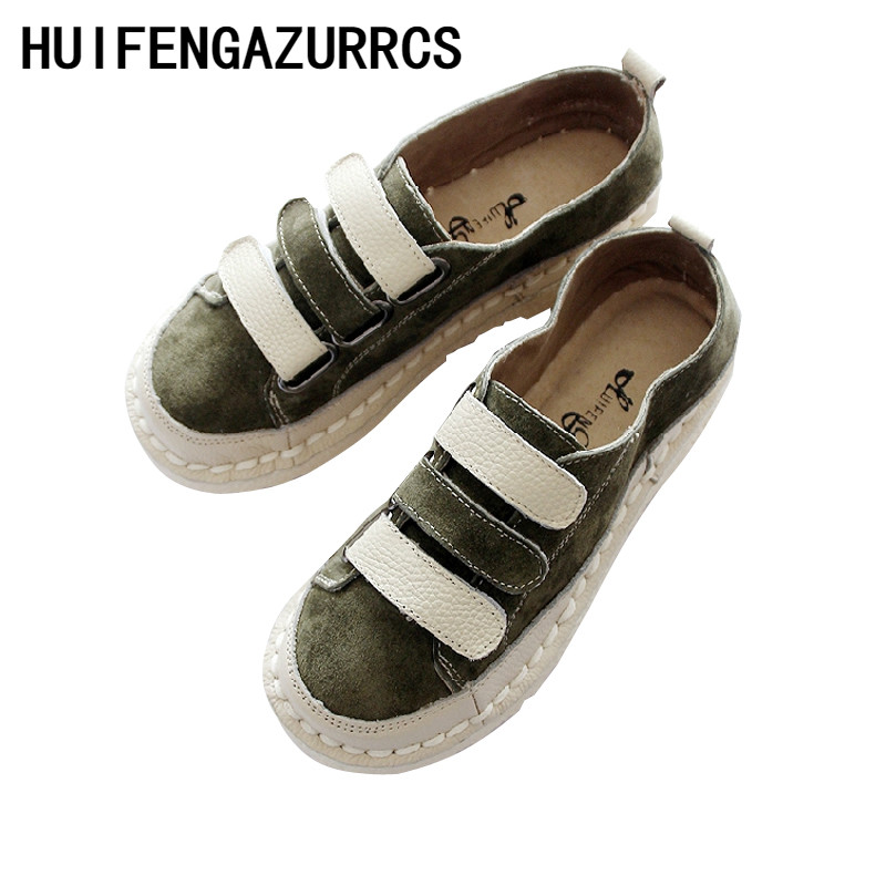 HUIFENGAZURRCS 2019 New soft bottom women s shoes genuine leather casual shoes original handmade single shoes