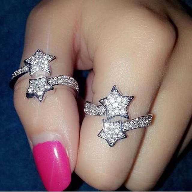 New European and American fashion five-pointed star ring 8CRD112