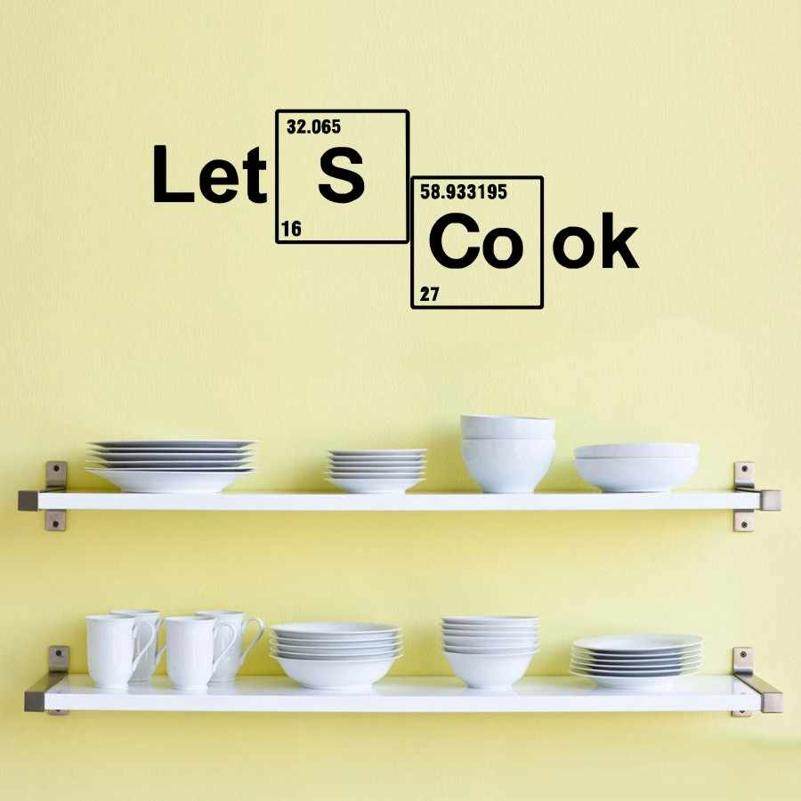 Detail feedback questions about table elements wall decals vinyl stickers custom decal vinyl lets cook periodic lettering quotes wall art home decor