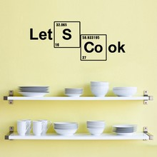 Table Elements Wall Decals Vinyl Stickers Custom Decal Vinyl  Let's Cook Periodic Lettering Quotes Wall Art Home Decor Kitchen yoyoyu wall decal quotes the kitchen is where the heart is vinyl wall stickers modern design fashion home decor interior diycy74