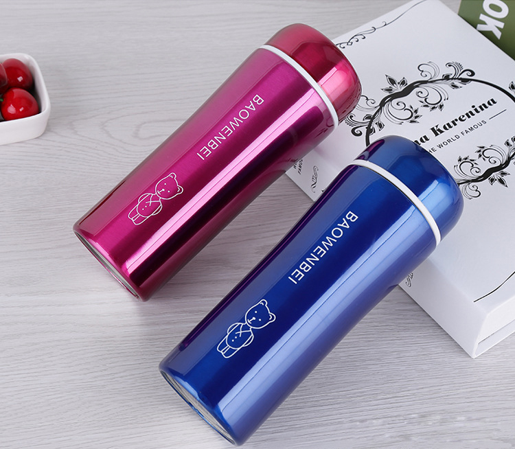 300mL Travel Mug Tea Coffee Water Bottle Stainless Steel, Insulation Cup steel warm wate ...