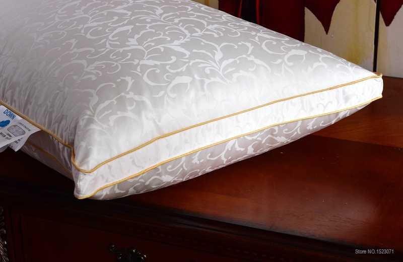 TUTUBIRD детская гусиная Подушка/голова спальное постельное белье Подушка с наполнителем из шелка + Хлопковый чехол Европейский/США/русский размер бесплатная доставка