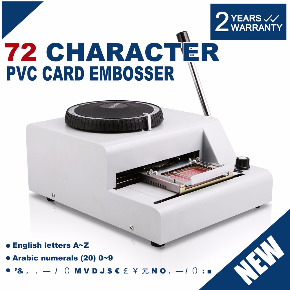 Eu Free Shipping Embosser 72 Character Card Embossing Machine For Pvc Gift Card Vip Id Membership Stamping Embossing 72 Charac To Adopt Advanced Technology Home Appliance Parts