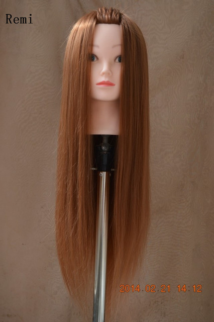 Hot Long Hair Cosmetology Mannequin Heads For Braiding Synthetic Hairdressing Doll Women Hairdresser
