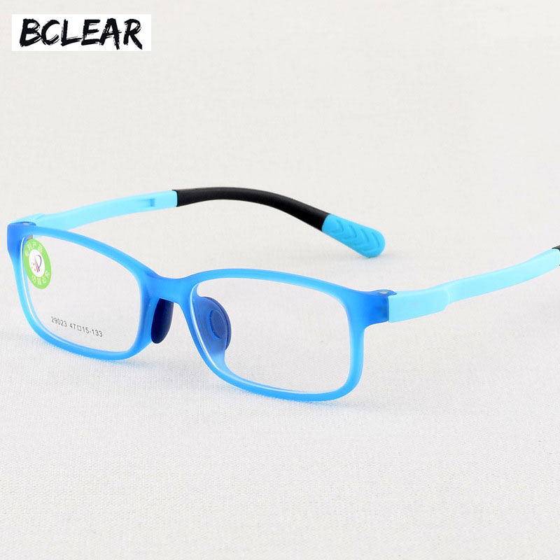 Esnbie Fashion Bendable Kids Eyeglasses Frames New Fiber Memory Child Glasses With Elastic Cord Girls Boys Optics Eyewear 10pcs Apparel Accessories Men's Glasses