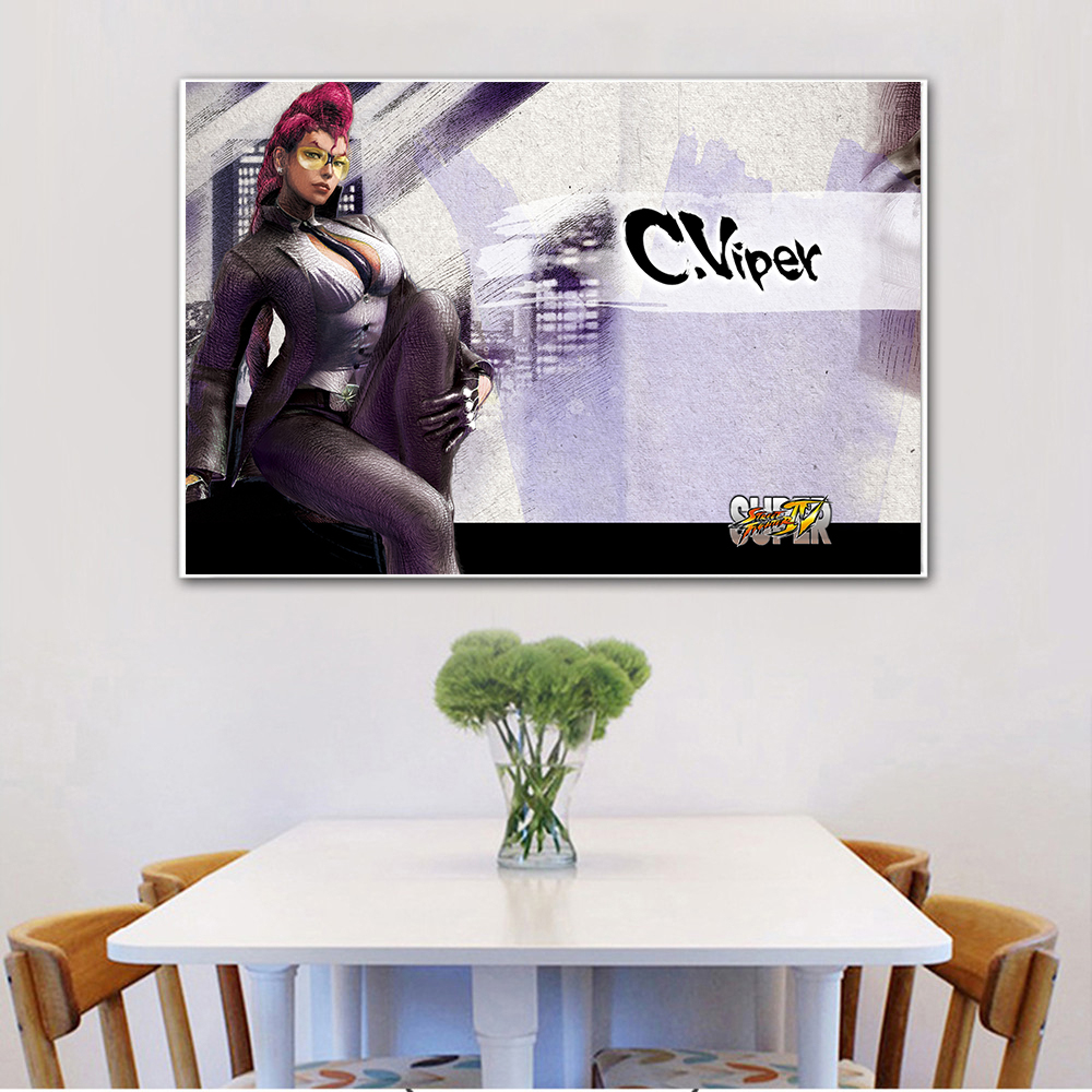 HD Home Decor Canvas Woonkamer Modern Game Street Fighter