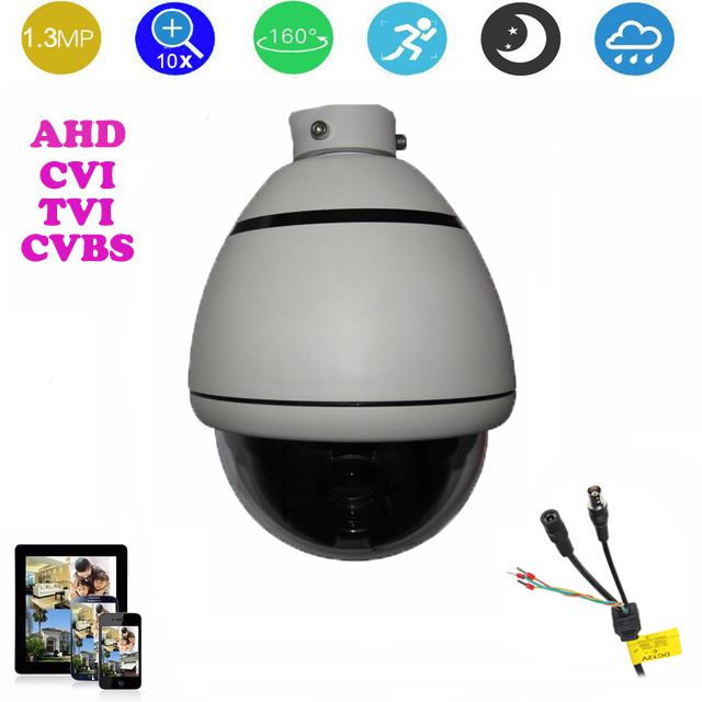 AHD/CVI/TVI/CVBS HD PTZ camera 3.5-inch high Speed dome Camera 1.3MP 10x Auto zoom outdoor camera waterproof No night vision hd ahd cvi tvi cvbs bullet camera with alarm speaker waterproof ip67 hd 1080p 4 in 1 security camera outdoor night vision ir 20m